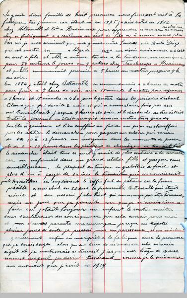 lettre de 1919
