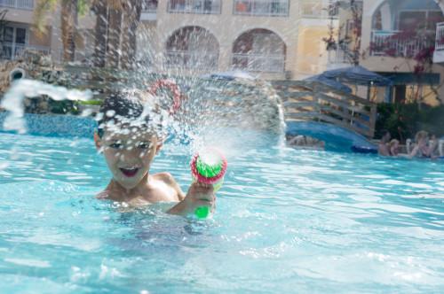 photo dans une piscine