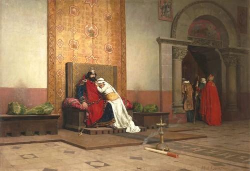 Il y a un détail troublant dans ce tableau peint par Jean–Paul Laurens en 1875...