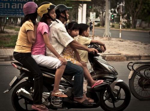 family-on-motorbike