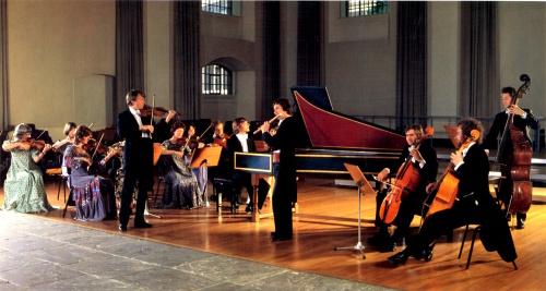 The English Concert. Simon Standage violon solo, Trevor Pinnock au clavecin, Stephen Preston à la flûte