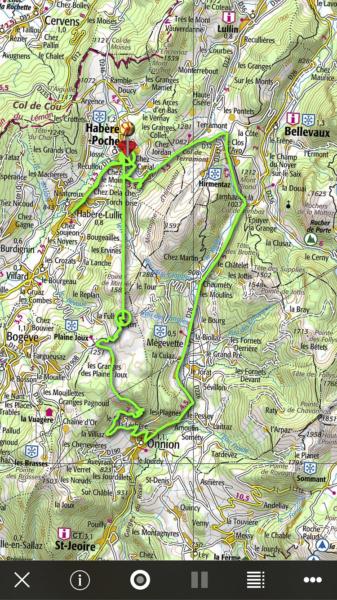 Le col de l'Avernaz, ne pas renir compte de la trace toute droite à gauche, iPhyGenie a buggé, ça arrive rarement, mais ça arrive.